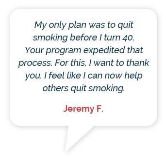 Lumme Health - Quit Smoking App - Testimonials - Person 1 - Speech Bubble