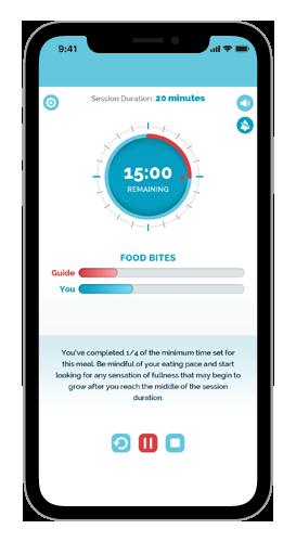 Lumme Health - Mindful Eating App - 15 minute Mark Screen