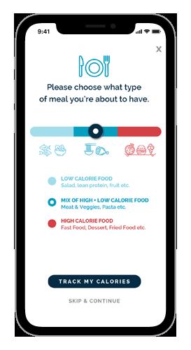 Lumme Health - Mindful Eating App - Calories Estimate Screen