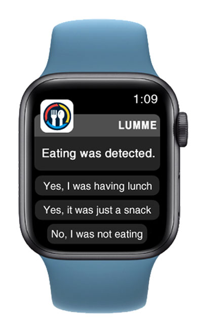 Lumme Health - kCalculator App - Eating Detection Notifications